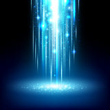Magic light effect shiny sparkles falling abstract background. Royalty Free Stock Images