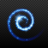 Magic light effect shiny spiral background. Royalty Free Stock Photo