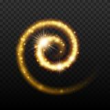 Magic light effect shiny spiral background. Stock Image