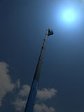 Magic light, high long industrial crane arm, Royalty Free Stock Photography