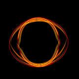Magic light neon energy circle. Glowing fire ring trace. Energy frame. Shining circle banner. Magic light neon energy circle. Glowing fire ring trace Stock Images