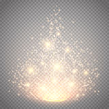 Magic light vector effect. Glow special effect light, flare, star and burst. Isolated spark Royalty Free Stock Photo