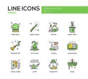 Magic - line design icons set Stock Photography