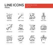 Magic - line design icons set Stock Photos