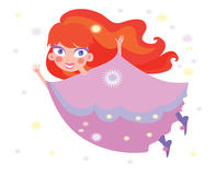 Magic little princess Royalty Free Stock Photo