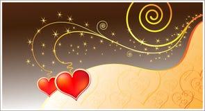 Magic love hearts Stock Photos