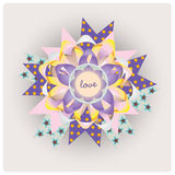Magic love message ribbon Royalty Free Stock Images
