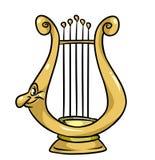 Magic lyre cartoon illustration Royalty Free Stock Photo