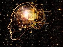 Magic of Machine Consciousness Stock Photo