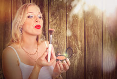 Magic make up woman Stock Photo