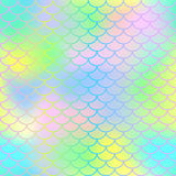 Magic mermaid tail background. Colorful seamless pattern with fish scale net. Fish scale texture  pattern. Magic mermaid tail background. Colorful seamless Stock Images