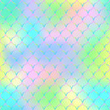 Magic mermaid tail background. Vibrant seamless pattern with fish scale net. Royalty Free Stock Images