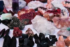 Magic minerals stock image