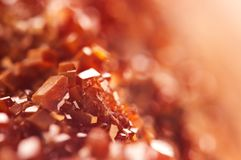 Magic of minerals.Texture Red Background crystals. Beautiful dre. Amy artistic background Royalty Free Stock Photography