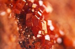 Magic of minerals.Texture Red Background crystals. Beautiful dre Stock Images