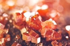 Magic of minerals.Texture Red Background crystals. Beautiful dre Royalty Free Stock Image
