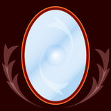 Magic mirror. On the wall Royalty Free Stock Photos
