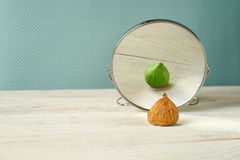 Magic mirror who is the fairest in the land. Stock Photography