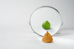 Magic mirror who is the fairest in the land. Stock Photo