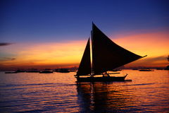 Magic Moment In Boracay Royalty Free Stock Images