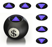 Magic money ball predicts future Royalty Free Stock Photo
