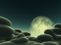 Magic moon concept. Magic moon in the night sky Stock Photography