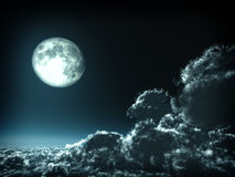 Magic moon concept Royalty Free Stock Images