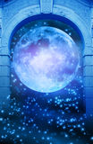 Magic moon gate royalty free illustration