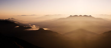 Magic morning clouds Royalty Free Stock Photography