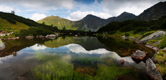 Magic mountain lake Stock Image