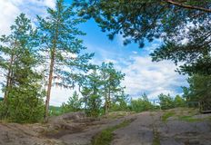 At magic mountain Sampo, Karelia. Sampo, the magic mountain - a place of power and fulfillment of the most cherished desires, Karelia, Russia Stock Photos