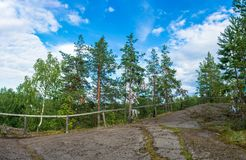 At magic mountain Sampo, Karelia. Sampo, the magic mountain - a place of power and fulfillment of the most cherished desires, Karelia, Russia Royalty Free Stock Photo