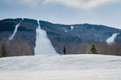 Magic Mountain Skier - Londonderry, VT Stock Images