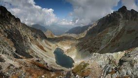 Magic Mountains. Panorama with lake. High Tatras, National Park, Slovakia royalty free stock photos