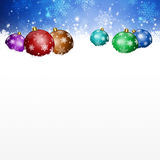 Magic Muliticolor Balls and White Spot Royalty Free Stock Images