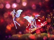 Magic Mushroom Fairy Royalty Free Stock Photos