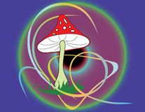 Magic mushroom. Vector. Stock Image