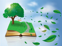 Magic nature book Stock Photo