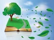 Magic nature book Stock Photo