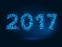Magic New Year 2017 background. Magic background New Year 2017 Royalty Free Stock Photos