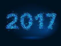 Magic New Year 2017 background. Magic background New Year 2017 stock illustration