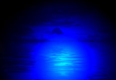 Magic night diversity, blue light, Stock Photo