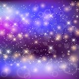 Magic Night Galaxy Background With Rainbow Mesh stock illustration