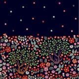 Magic night garden. Royalty Free Stock Image