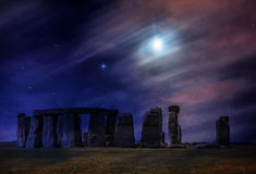 Magic night at Stonehenge Stock Photography