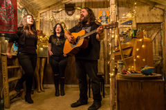 The Magic Numbers at The Larmer Tree Festival, Tollard Royal, Wiltshire, UK Royalty Free Stock Photos