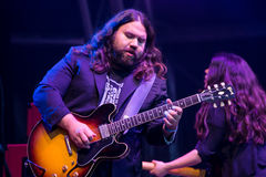 The Magic Numbers at The Larmer Tree Festival, Tollard Royal, Wiltshire, UK Royalty Free Stock Photography