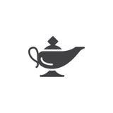 Magic oil lamp icon vector Royalty Free Stock Photo