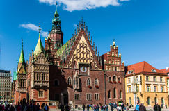 Magic old town of Wroclaw, Poland Royalty Free Stock Image