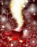 Magic open gift box Stock Photo